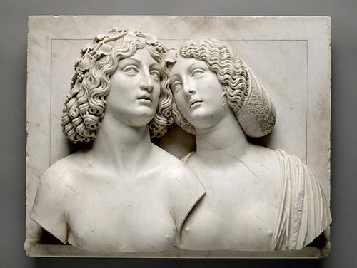 Tullio Lombardo, Bacchus et Ariane, vers 1505-1510. Vienne, Kunsthistorisches Museum. © Kunsthistorischesmuseum, Vienne.