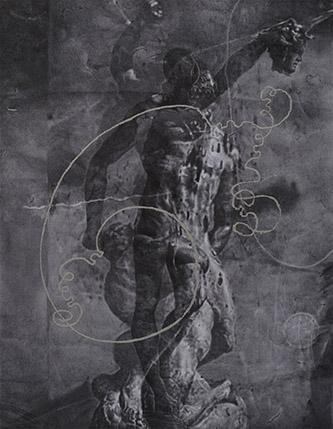 Zhang Yunyao, Study in Figures (AVDATIA), 2019. Graphite, acrylic and pastel on felt, 183.5 x 143 cm. © ZHANG Yunyao.