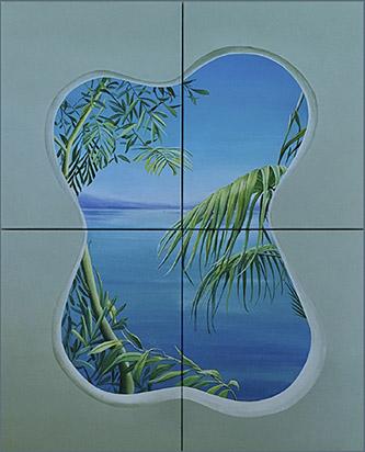 Marion Charlet, Cruising III, 2020. Acrylique sur toile + paillettes. 4 x 31 x 43 cm. © Marion Charlet / Courtesy Galerie Paris Beijing