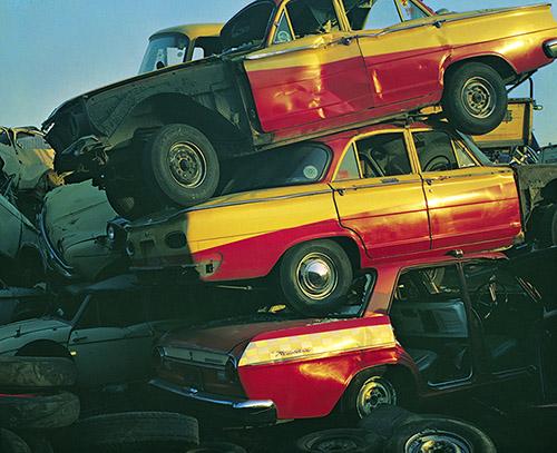 Shomei Tomatsu, Taxis, Tokyo, 1967. Tirage jet d'encre, 59 x 42 cm. © Shomei Tomatsu – INTERFACE.