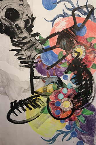 Frédérique Loutz, Sans titre, 2020. Crayon, encre. ©  Frédérique Loutz.