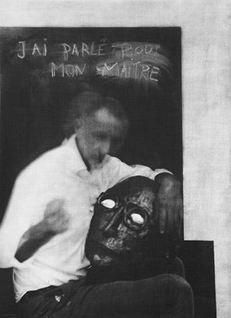 Laurent Millet, sans titre #13, série Un architecte comme les autres, 2020. Edition 1/3 (+2EA), 50 x 40 cm, gomme bichromatée, encadrement en aluminium et bois plaqué, verre antireflet, courtesy Galerie Binome.