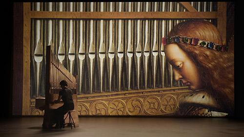 La Tentation du réel, l'Agneau mystique des frères Van Eyck de Jérôme Laffont et Joachin Thôme. © Les Productions du Verger/ Supermouche Productions.