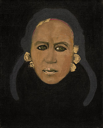 Dalila Dalléas Bouzar, Princesse #4, 2015-2016, huile sur toile, 50 x 40 cm, courtesy de l'artiste et de la Galerie Cécile Fakhoury (Abidjan, Dakar, Paris), photo Grégory Copitet.