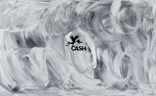 Sylvie Fanchon, Sans titre (Cash), 2020 - Acrylique sur toile,  100 x 160 cm © Jonathan Martin.