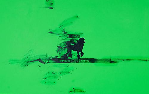 Sylvie Fanchon, Sans titre (The Purpose of Art), 2020 - Acrylique sur toile,  100 x 160 cm © Jonathan Martin.