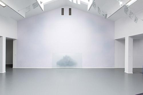 Christiane Peschek, Cloud No. 2, de la série Velvet Fields 2020. Vue de l'exposition Stormy Weather, Centre culturel suisse, 2021 © Margot Montigny. cur. Claire Hoffmann et Katharina Brandle.