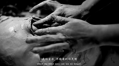 GENG Xue, The Poetry of Michelangelo, 2015. Vidéo Noir et Blanc, son, 19'09. Mentions : ©Geng Xue