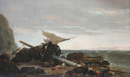 Pierre-Emile Berthélémy (1818-1894), Après la Tempête, huile sur toile, 128 x 210 cm, Musée des Beaux-Arts de Rouen © C. Lancien, C. Loisel / Réunion des Musées Métropolitains Rouen Normandie.