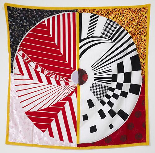 Mette Winckelmann, 30.000.000 Lesbians, 2009. Fabric banner, 190 x 190 cm. Photo :  Anders Sune Berg.