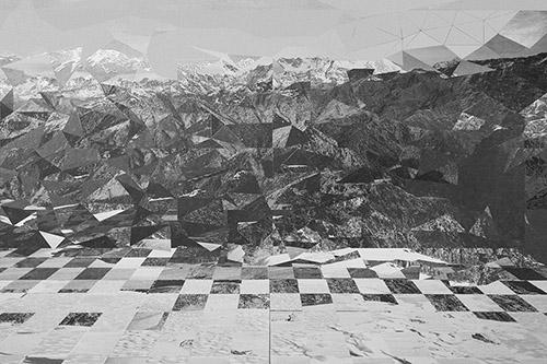 Michel Le Belhomme, Les deux labyrinthes, 2015-2020, courtesy galerie binome.