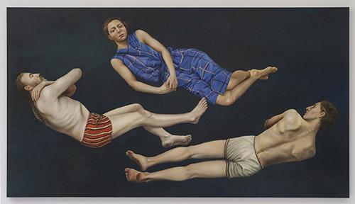 Sophie KUIJKEN, D.Z., 2021. Huile et acrylique sur toile, 150 x 270 x 4,5 cm. ID40551. © Sophie Kuijken. Courtesy de l'artiste et de la Galerie Nathalie Obadia Paris / Bruxelles.
