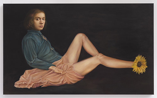 Sophie KUIJKEN, Z.V., 2021. Huile et acrylique sur toile, Oil and acrylic on canvas, 90 x 160 x 4,5 cm. ID40555. © Sophie Kuijken. Courtesy de l'artiste et de la Galerie Nathalie Obadia Paris / Bruxelles.