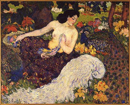 Albert André, Femme aux paons, 1895. Huile sur toile, Collection particulière Photo Archives Durand-Ruel, © Durand-Ruel & Cie.
