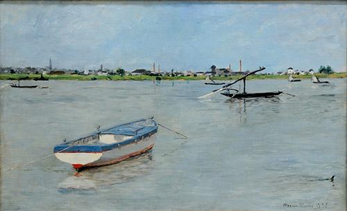Maxime Maufra, Bateaux de pêche à la Haute-Île, 1885. Huile sur toile. © Musée d'Art et d'Histoire de Cholet.