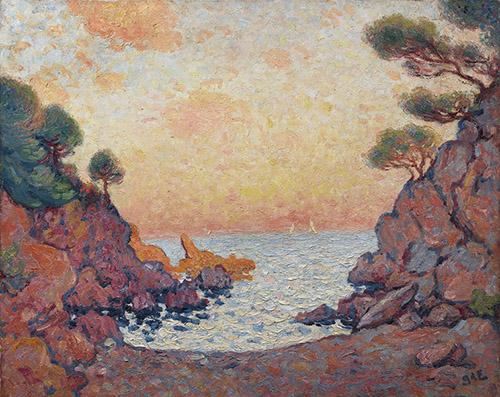 Georges d'Espagnat, Crique au Lavandou, c. 1899. Huile sur toile, Collection particulière, Photo Archives Durand-Ruel, © Durand-Ruel & Cie.