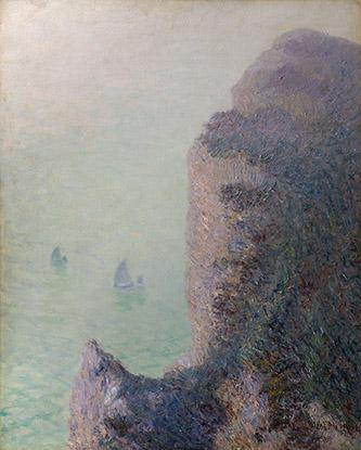 Gustave Loiseau, Falaise Etretat, 1902. Huile sur toile, Collection particulière. Photo Archives Durand-Ruel, © Durand-Ruel & Cie.