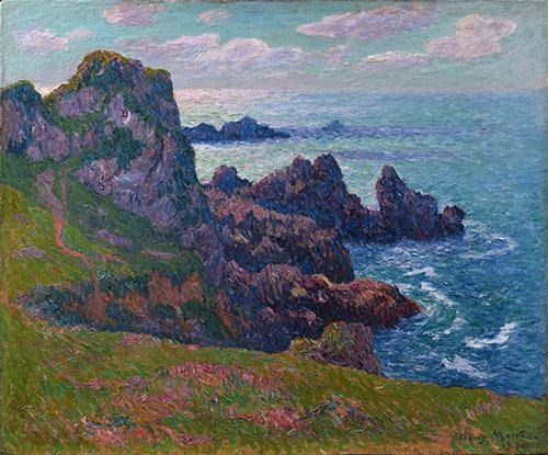 Henry Moret, Temps calme à Pern, Ouessant, 1892. Huile sur toile, Collection particulière, Photo Archives Durand-Ruel, © Durand-Ruel & Cie.