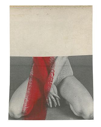 Katrien de Blauwer, Isabelle (37), 2019. 9,2 x 12,6 cm. Collage photographique. Pièce unique. © Katrien de Blauwer / Courtesy Galerie Les Filles du Calvaire.