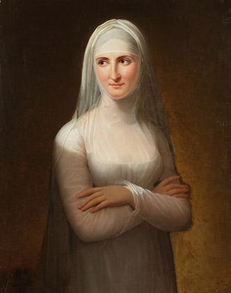 Jeanne Elisabeth Chaudet, Portrait d'une dame en novice, 1811. Huile sur toile, 81 x 64,5 cm. Paris, Galerie Michel Descours. © Galerie Michel Descours.