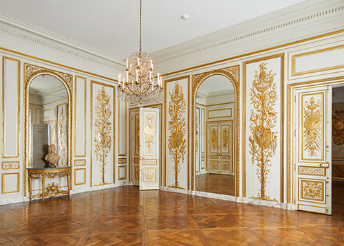 Salon de compagnie de l'hôtel d'Uzès, musée Carnavalet - Histoire de Paris. © Antoine Mercusot.