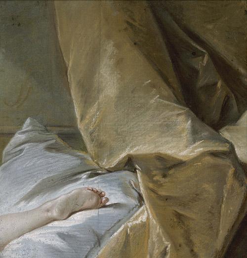 François Boucher (1703-1770), Etude de pied, vers 1751-1752. Pastel. Paris, musée Carnavalet - Histoire de Paris. © Musée Carnavalet / Paris Musées.