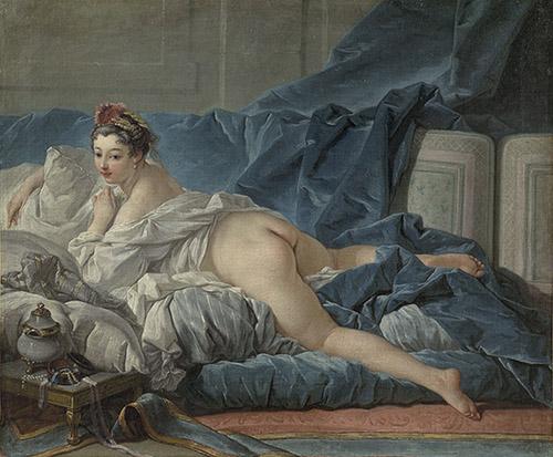 François Boucher (1703-1770), L'Odalisque brune, 1745. Huile sur toile, Paris, musée du Louvre, département des Peintures. © RMN-Grand Palais (musée du Louvre) / Tony Querrec.