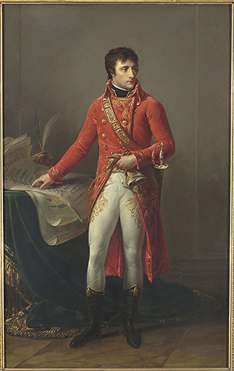 Antoine-Jean Gros, Napoléon Bonaparte en Premier consul, 1802. Paris, musée national de la Légion d'Honneur. © Rmn - Grand Palais / Gérard Blot.
