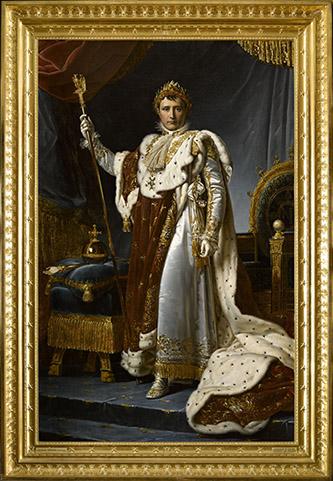 François Gérard, Napoléon Ier, empereur des Français (1769-1821), 1808. Paris, musée du Louvre, département des Peintures, en dépôt au musée national des châteaux de Versailles et de Trianon © Rmn - Grand Palais (château de Versailles) / Franck Raux.