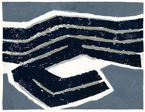 Raoul UBAC, Œuvre originale, maquette du timbre-poste, aquarelle sur papier fil de soie, 1979. Coll. Musée de La Poste © ADAGP, Paris 2021.