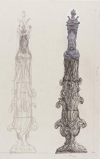 Elmar Trenkwalder, VWZ 1469, 2011. Crayon sur papier, 36,5 x 23,5 cm. Courtesy Galerie Bernard Jordan.