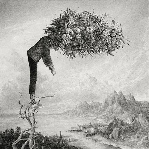 Ethan Murrow, The Gleaner, 2021. Graphite sur papier, 91,5 x 91,5 cm. Courtesy Les Filles du Calvaire.