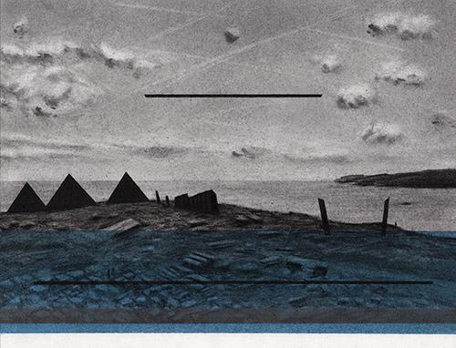 Fabien Granet, Les indestinés, 2020. Graphite, fusain et pastel sur papier, 20 x 26 cm. Courtesy Galerie Jean-Louis Ramand.