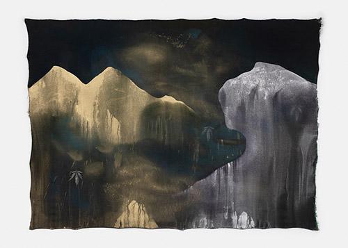 Paul Mignard, L'Expédition Z, 2020, 142 x 193 cm, pigments sur toile libre. © Galerie Jérôme Poggi, Paris. Photo : © Nicolas Brasseur.