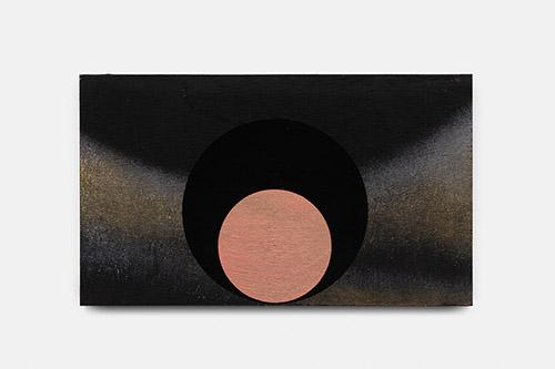 Paul Mignard, Heureusement, le gardien intervint, 2020, 16 x 27 cm, pigments sur panneau d'okumé. © Galerie Jérôme Poggi, Paris. Photo : © Nicolas Brasseur.