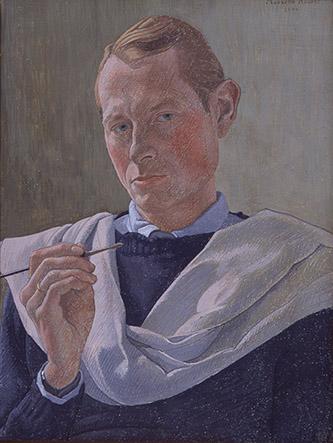 Augustin Rouart, Autoportrait au pinceau, 1944. Crédit : Philippe Fuzeau.