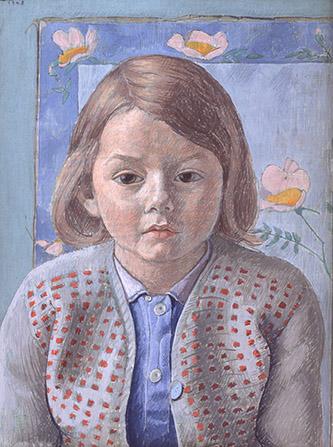 Augustin Rouart, L'Enfant au gilet rouge, 1948. Crédit : Philippe Fuzeau.