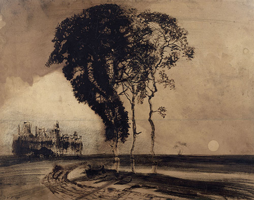 Victor Hugo, Paysage aux trois arbres, 1850 © Paris Musées / Maisons de Victor Hugo - Hauteville House.