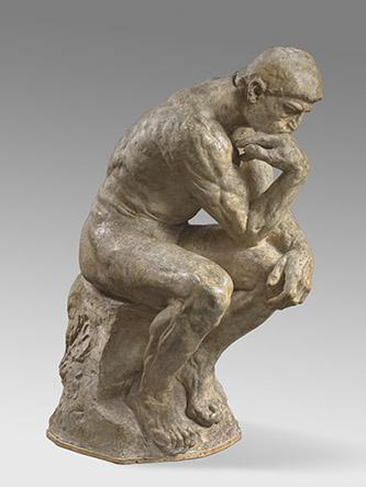 Auguste Rodin, Le Penseur, 1880-82, plâtre patiné, H. 189 x L. 95 cm © Musée Rodin, ph. Hervé Lewandowski.