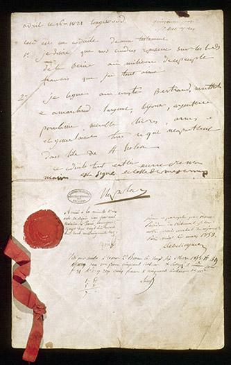 Testament de Napoléon Ier. © Archives nationales (France).