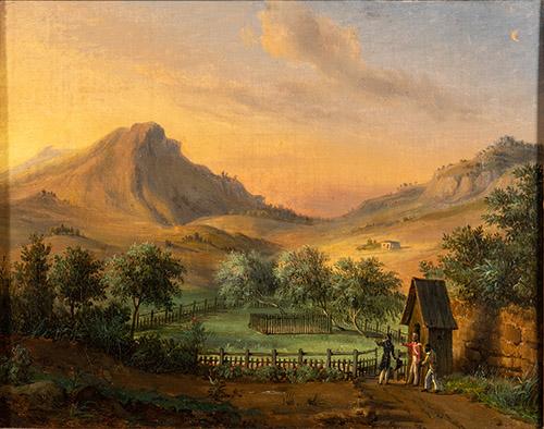 François Edme Ricois, Tombeau de Napoléon à Sainte Hélène dans la vallée du Géranium. © Jean Harixçalde, Ville d'Ajaccio.