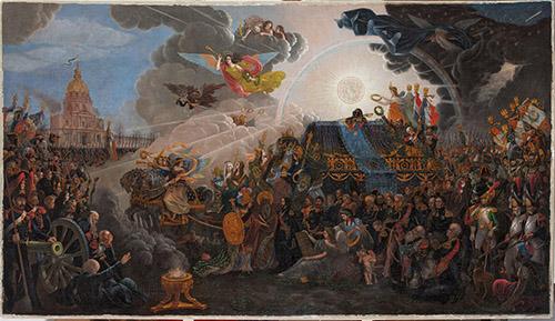 François Trichot, Tableau allégorique du retour des Cendres de Napoléon, le 15 décembre 1840. © Lombard/Arcanes.