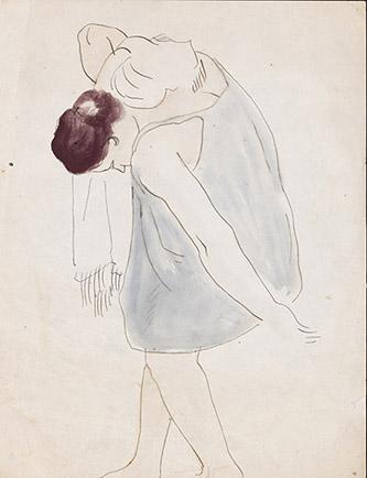 Jean Lurçat, Femme à la toilette, circa 1919, encre et aquarelle, 29 x 22 cm. Crédits photographiques: © Collection Fondation Jean et Simone Lurçat- Académie des beaux-arts.