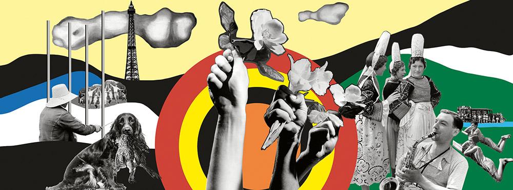 Reconstitutions contemporaines des panneaux par Jacques Barsac (2010) à partir des documents et photographies d'époque, avec une proposition de restitution des couleurs d'après des tableaux de Fernand Léger peints à la même époque.