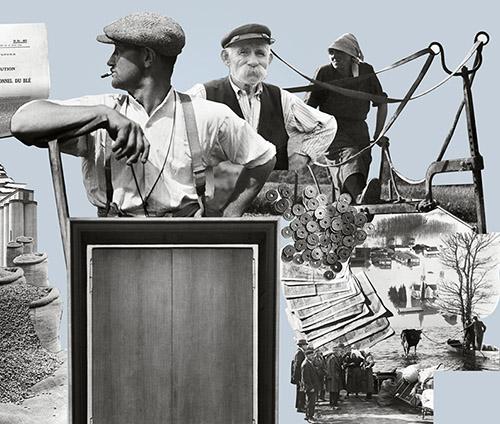 Détail d'un des photomontages de l'antichambre du ministère de l'Agriculture.