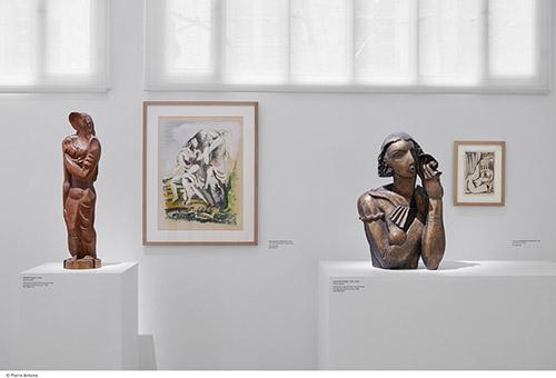 Ossip Zadkine (1888-1967), vues du nouvel accrochage des collections du musée Zadkine, Paris. Photo © Pierre Antoine.