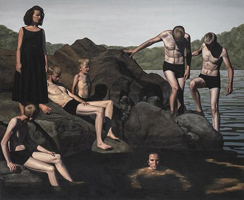 François Malingrëy, Au bord de l'eau, 2019. Galerie Le Feuvre & Roze.