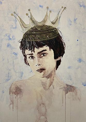 Edi Dubien, Mon coeur couronné, 2021. Galerie Alain Gutharc.