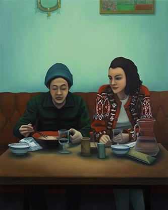 Dorian Cohen, Le restaurant de sushis, 2020. Galerie Paris-Beijing.