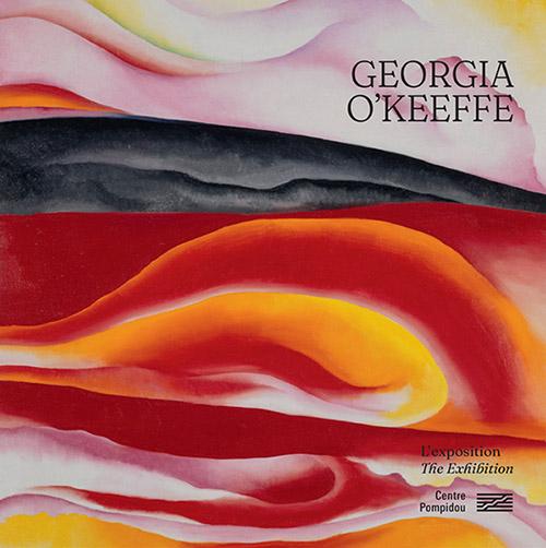 Couverture de l'album de l'exposition Georgia O'Keeffe, sous la direction de Didier Ottinger et Anna Hiddleston-Galloni, Format : 27 × 27 cm / 60 pages , 9,50 € / Tirage à 16 000 ex., avec l'œuvre Red, Yellow and Black Streak, 1924.